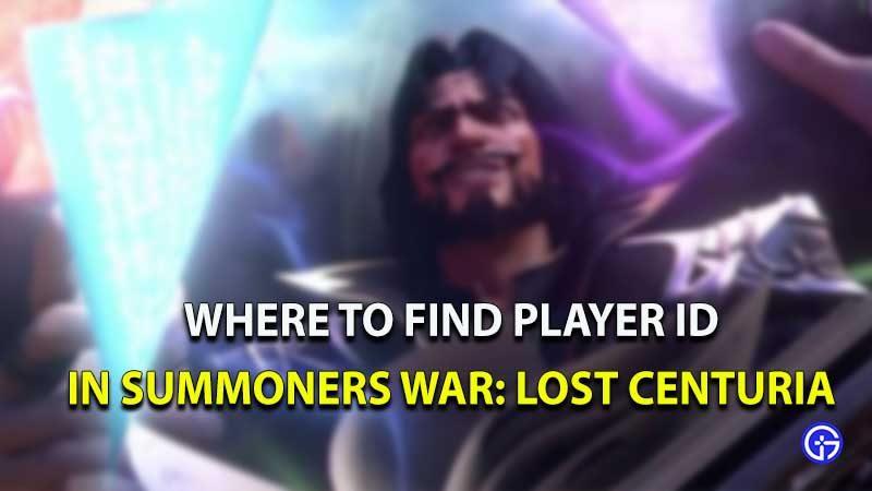 where to find player id summoners war lost centuria