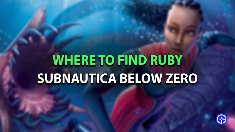 Subnautica Below Zero Ruby