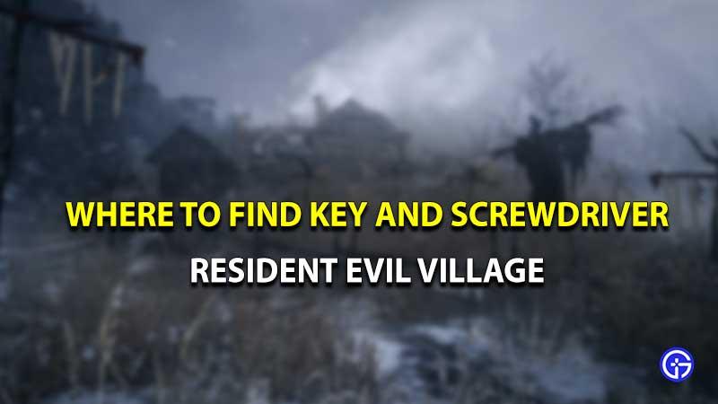 Resident evil village key screwdriver