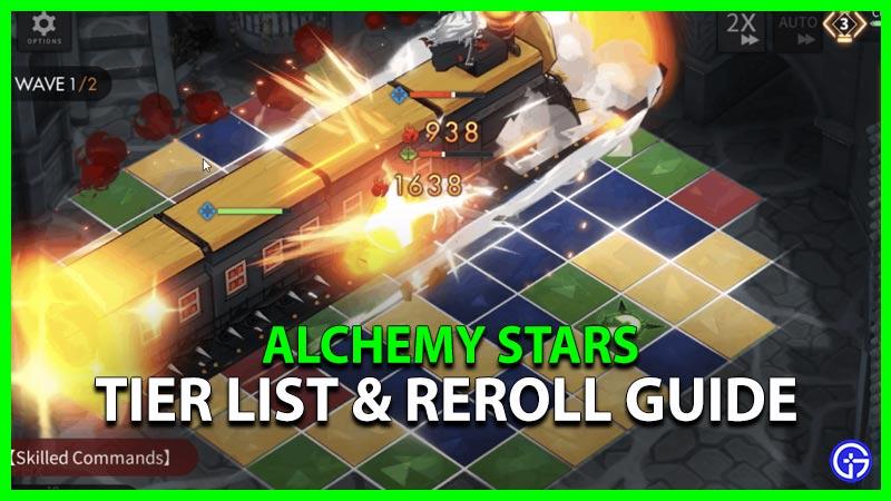 Alchemy Stars Tier List