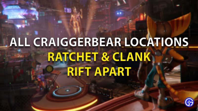 All Craiggerbear Locations Ratchet And Plank Rift Apart