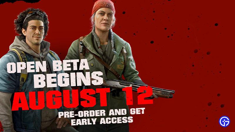 Back 4 Blood Open Beta Release Date