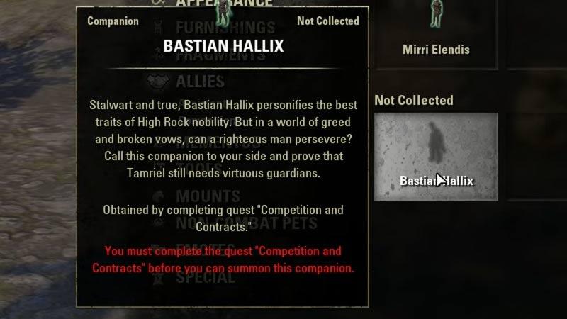 Bastian Hallix Quest