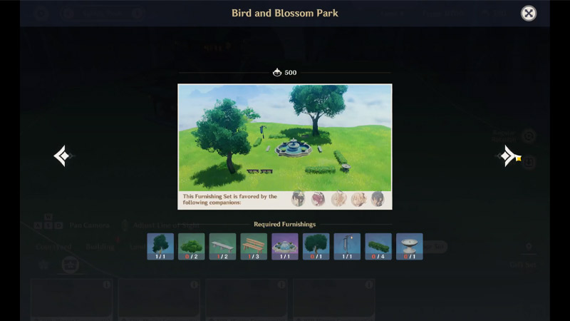 Bird And Blossom Park Genshin Impact