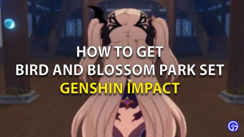 Bird And Blossom Park Set Geshin Impact