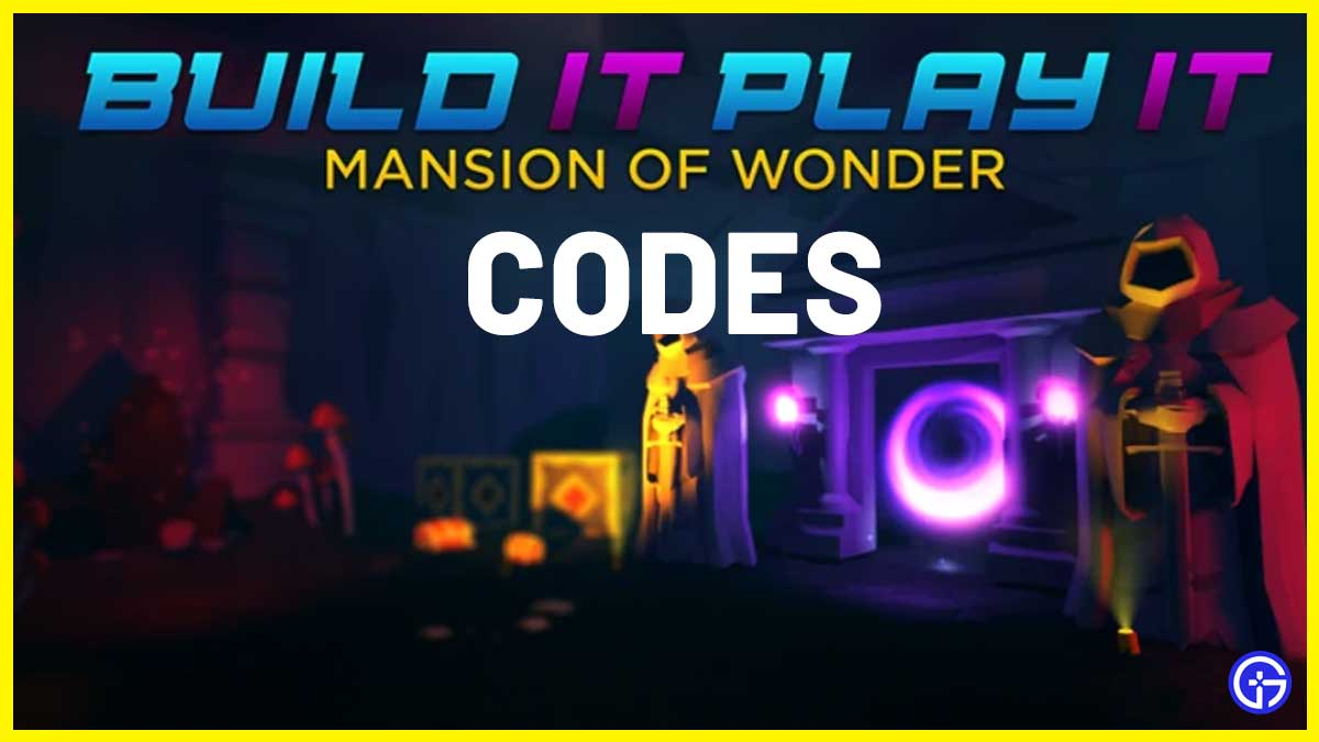 Build It Play It Mansion Of Wonder Codes in Roblox