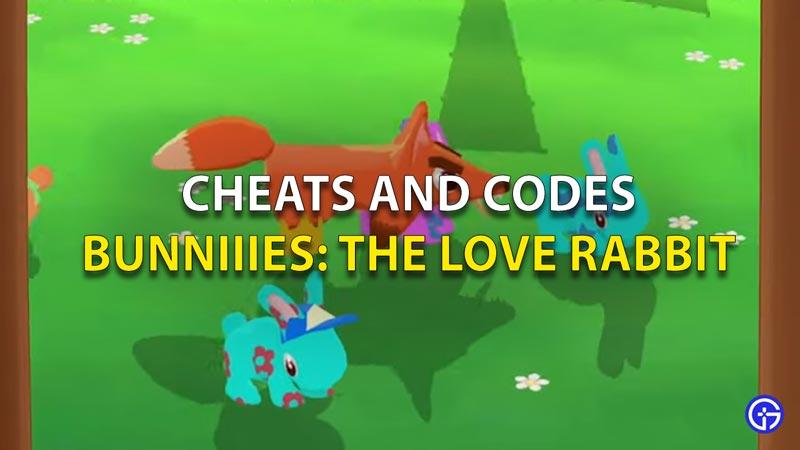 Bunniiies cheat codes
