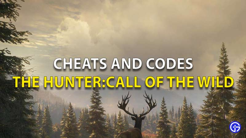 Cheats and codes the hunter call of the wild