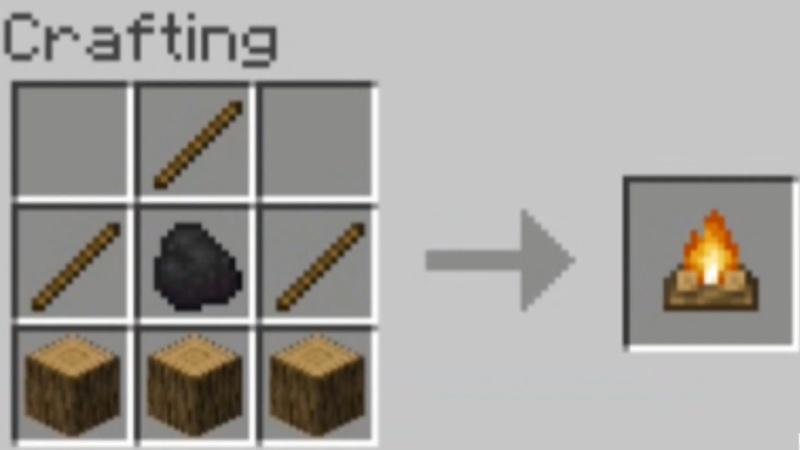 Campfire Recipe In Minecraft