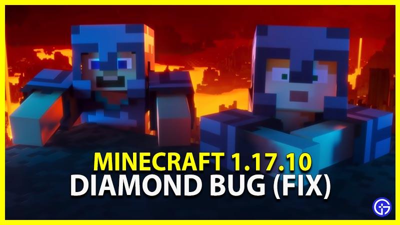 Diamond Bug Fix Minecraft 1.17.10