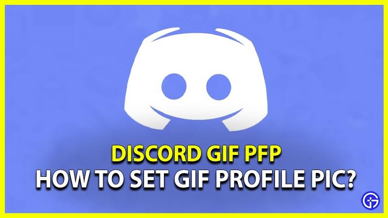 Discord GIF PFP