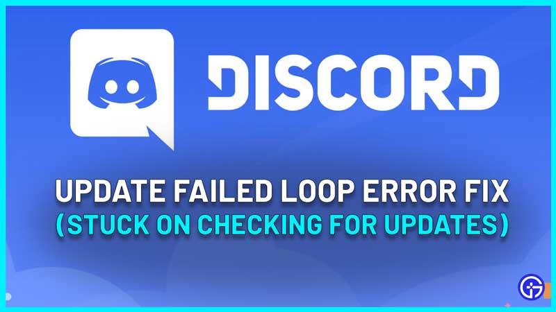 Discord Update Failed Loop Error Fix