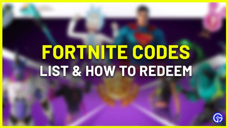 Fortnite Codes for free skins sprays and emotes
