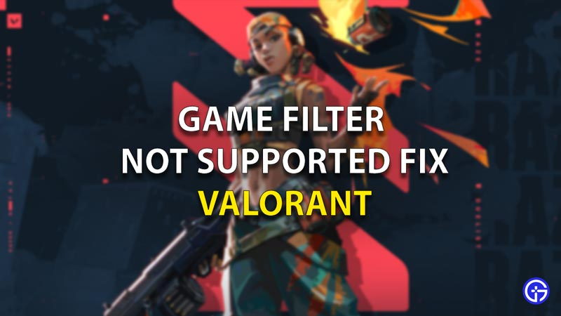 Game Filter Solution Valorant