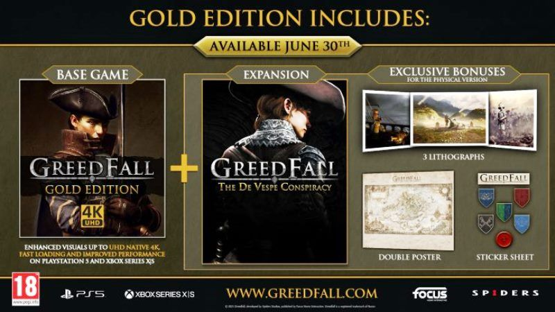 GreedFall Gold Edition Coming To PS5 on June 30