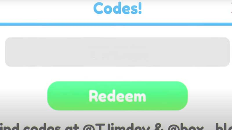 how to redeem codes in roblox timber