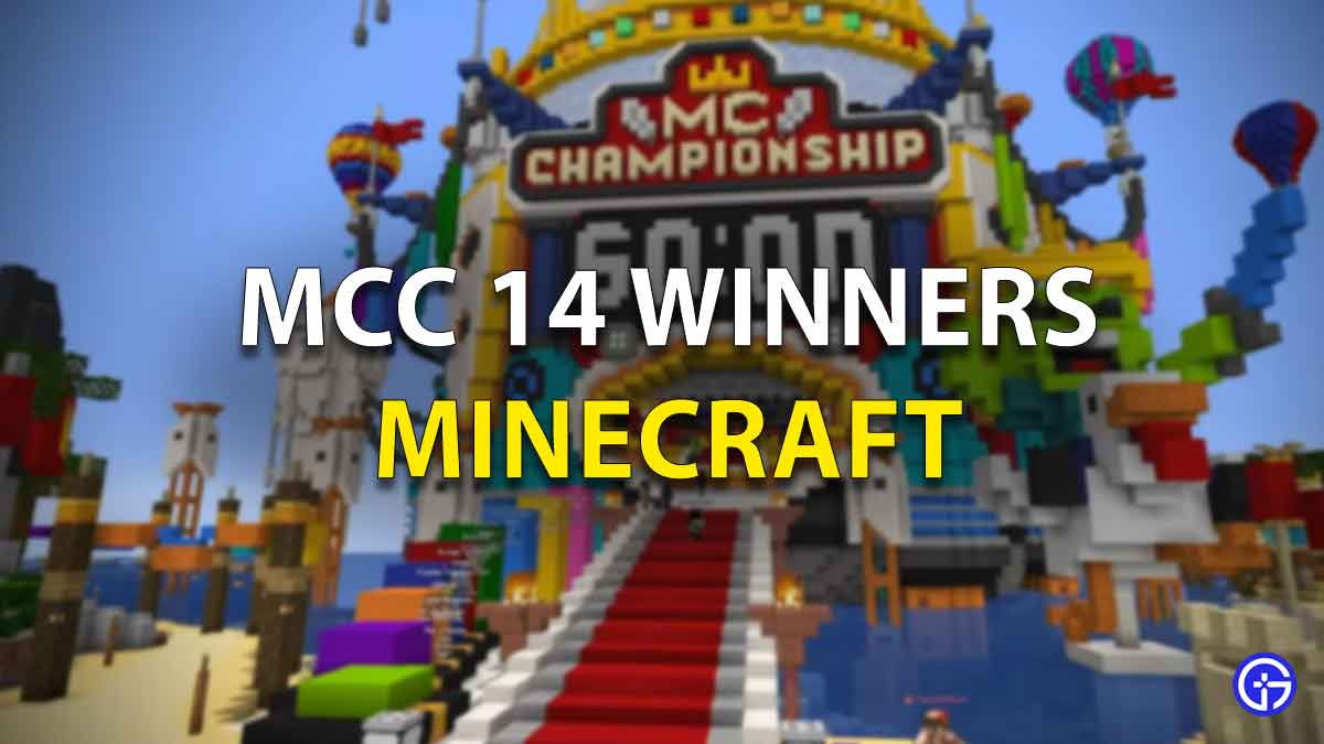 MCC 14 Winners