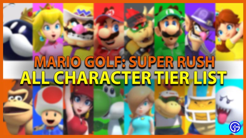 Mario Golf Tier List