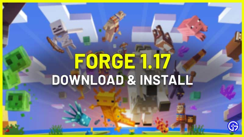 minecraft forge 1.17 download install