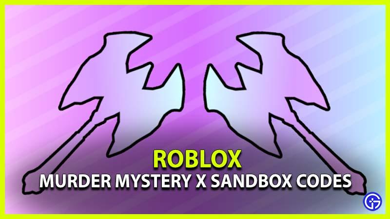 Murder Mystery X Sandbox Codes