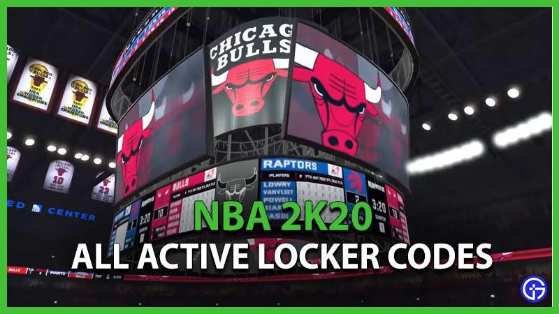 NBA 2K20 Locker Codes NBA2K20