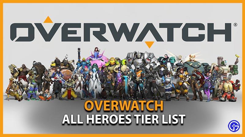 Overwatch Hero Character Tier List 2021
