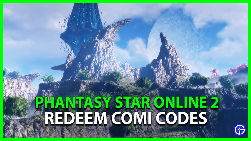 Phantasy Star Online 2 Comi Codes