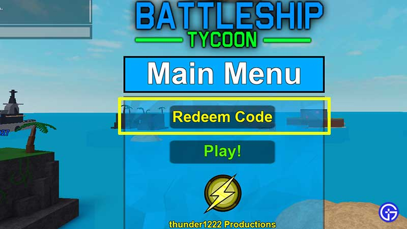 How to Redeem Codes in Roblox Battleship Tycoon