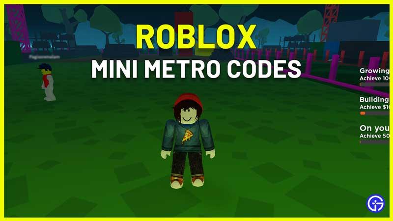 Roblox CITIZENS Mini Metro Codes