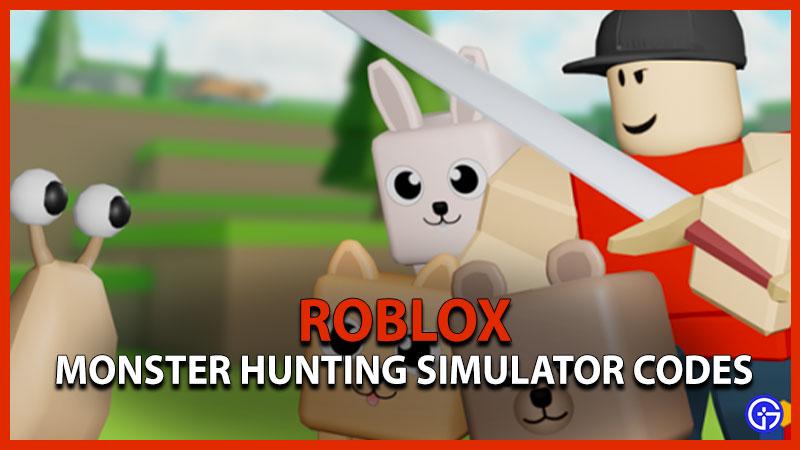 Roblox Monster Hunting Simulator Codes