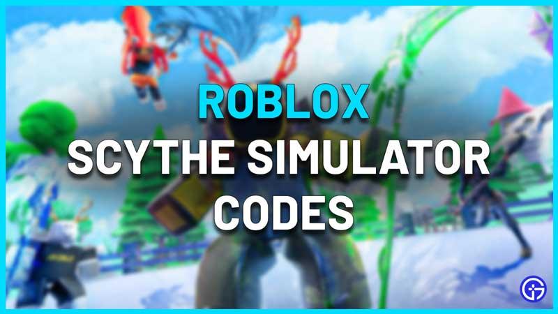 Roblox Scythe Simulator Codes