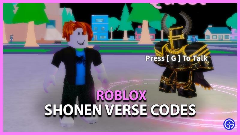 Shonen Verse Codes