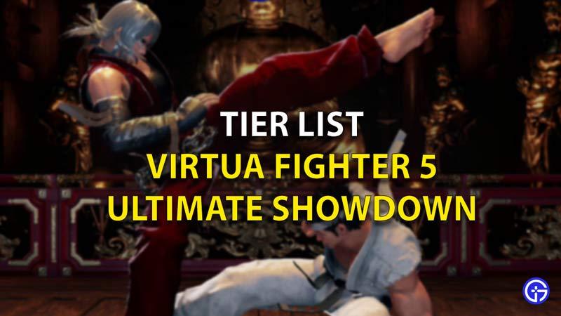 VF5 Ultimate Showdown Tier List