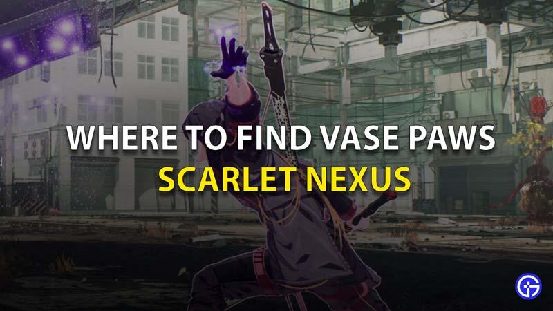 Vase Paws Scarlet Nexus