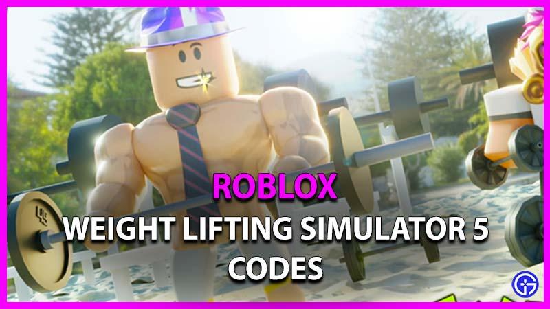 Weight Lifting Simulator 5 Codes