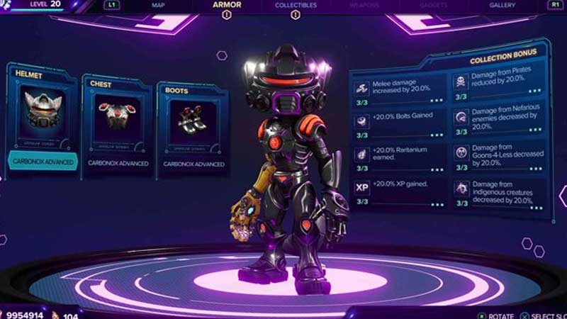 best armor ratchet and clank rift apart