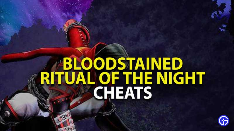 bloodstained ritual of the night cheat codes