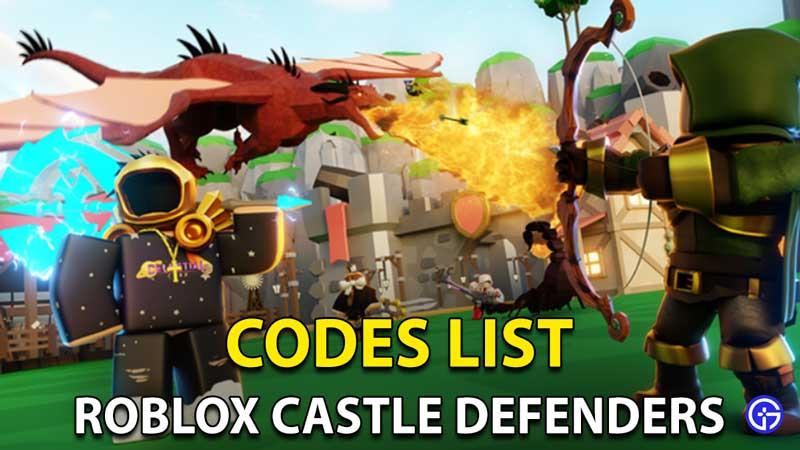 Castle Defenders Codes Roblox