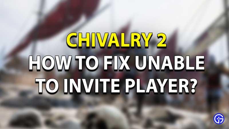 Chivalry 2 Multiplayer Bug