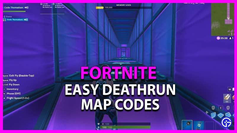 fortnite easy deathrun map codes