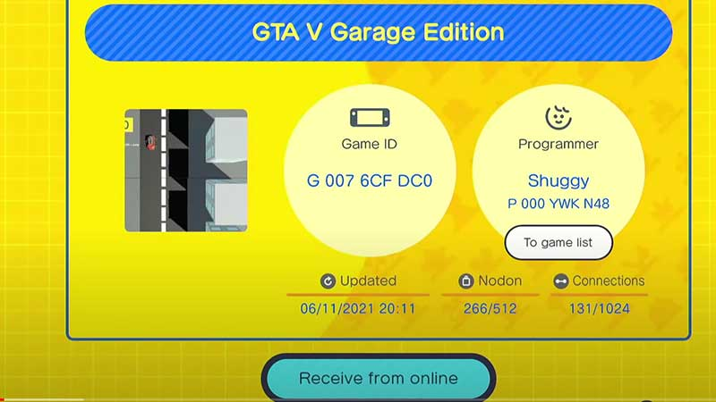 gbg codes and game ids to download games