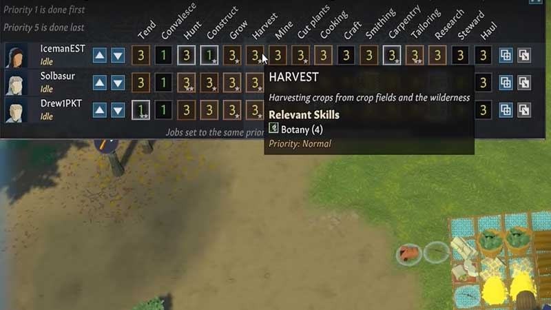 going medieval harvest priority
