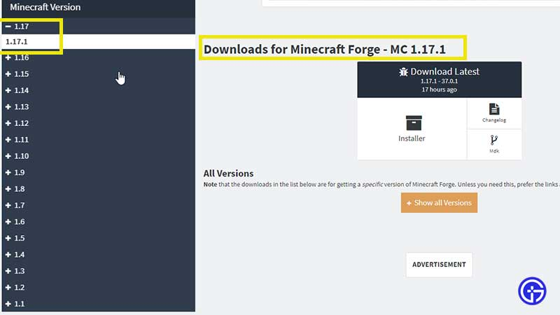 how to download forge 1.17 and install