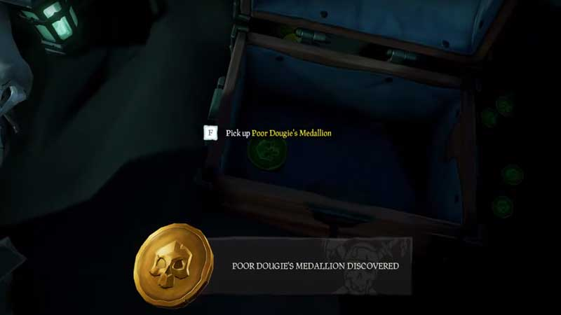 how to find poor dougies medallion sea of thieves