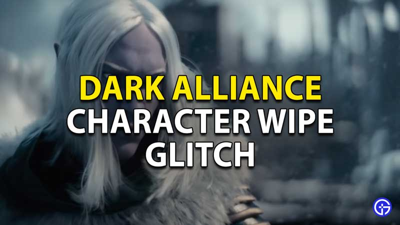 how to fix the character glitch in dark alliance