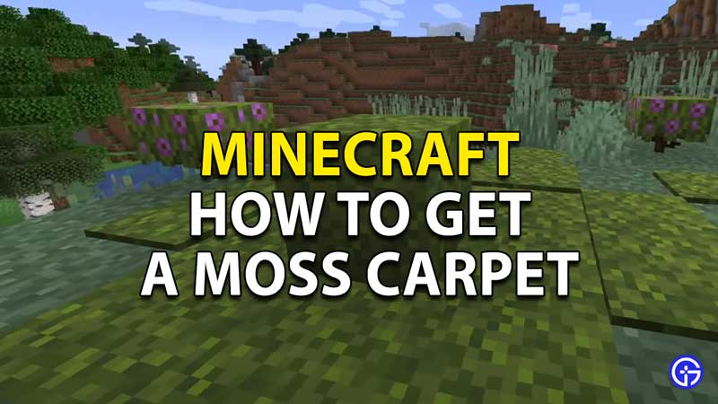 how to get a moss carpet in minecraft