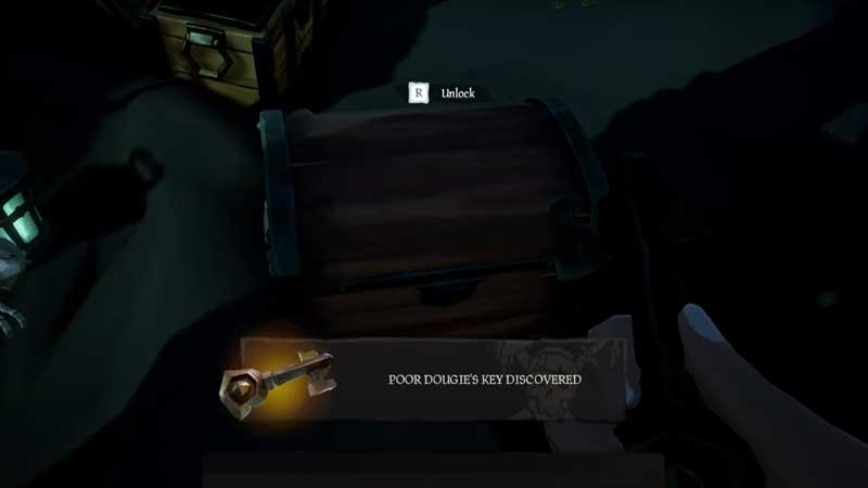 how to get poor dougies key in sea of thieves
