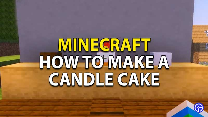 how to make a candle cake in minecraft