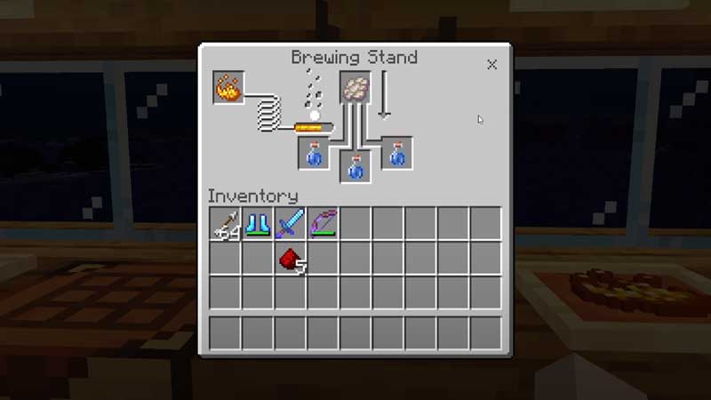 how to make a potion of slow falling minecraft