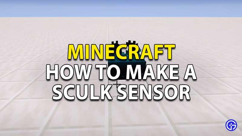 how to make a sculk sensor in minecraft